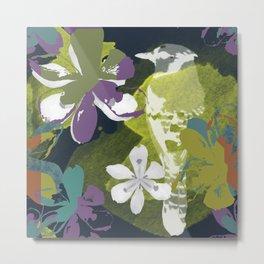 Blocked Flower Metal Print