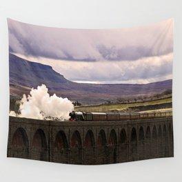 Flying Scotsman at Ribblehead Wall Tapestry
