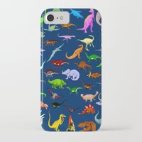 dinosaurs iPhone & iPod Cases featuring Dinosaurs by Raffaella315