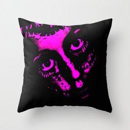 Doll Face (Pink) - Empress Horror Series Throw Pillow