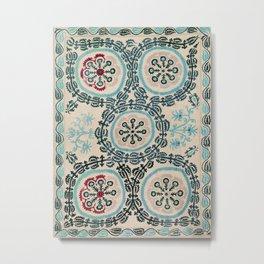 Ferghana Suzani  Northeast Uzbekistan Embroidery Print Metal Print