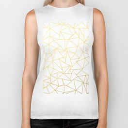 Ab Outline White Gold Biker Tank