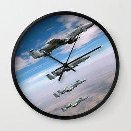 BEAUTIFUL AIRPLANE FORMATION Wall Clock