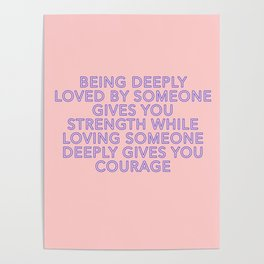 being deeply loved Poster