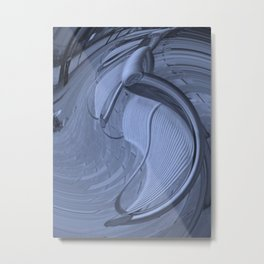 Curved Metal Bench. Metal Print