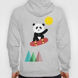 Panda on a skateboard Hoody