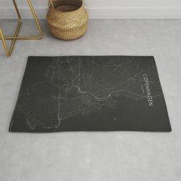Silver Copenhagen City Map Rug