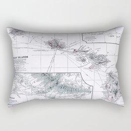Vintage Hawaii Map 1899 Rectangular Pillow