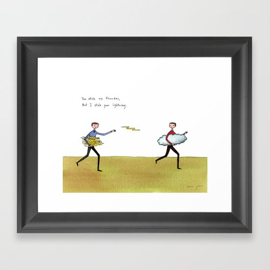 you stole my thunder Framed Art Print