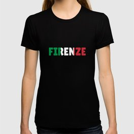 Firenze Italy flag holiday gift T-shirt