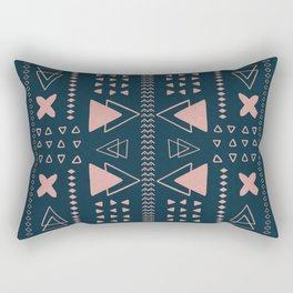Turquoise Geometric Pattern Rectangular Pillow