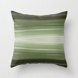 Underwater Light - Soft Emerald Green Throw Pillow