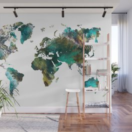 Map of the World tree #map #world Wall Mural