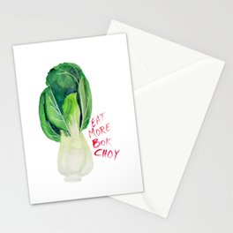 Eat More Bok Choy Stationery Cards