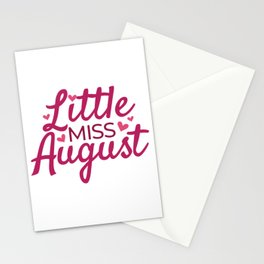 Little miss August Stationery Cards