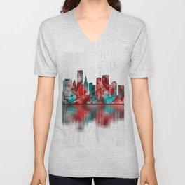 Miami Florida Skyline Unisex V-Neck