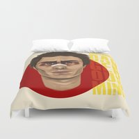 sam smith Duvet Covers featuring Sam Rockwell by Blanca Limón