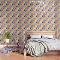 Zebra Rainbow Stripes Colorful Whimsical Animal by olechka