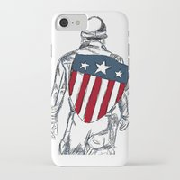 chris evans iPhone & iPod Cases featuring Captain America (Chris Evans) by  Steve Wade ( Swade)