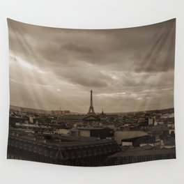 Rooftop view of Paris Wall Tapestry