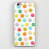 confetti iPhone & iPod Skins featuring Confetti by Catalina Montaña