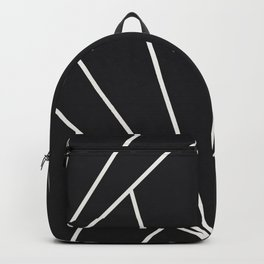 Diamond Series Sun Burst White on Charcoal Backpack