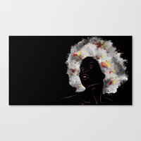afro Canvas Prints featuring afro by Nile