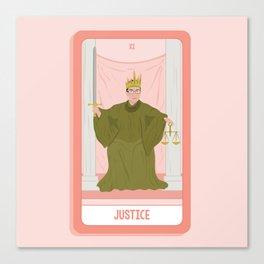 Tarot Card XI: (Supreme Court) Justice Canvas Print