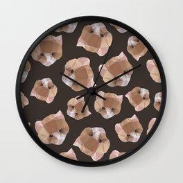 Cat from a geometrical pattern Wall Clock