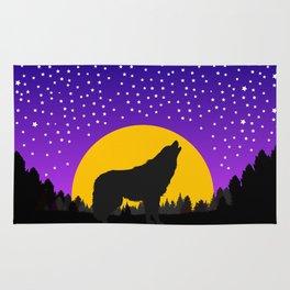 Wolf Moon Stars Rug