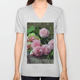 Carnation Bouquet Unisex V-Neck
