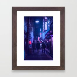 Tokyo Nights / One Minute To Midnight / Liam Wong Framed Art Print