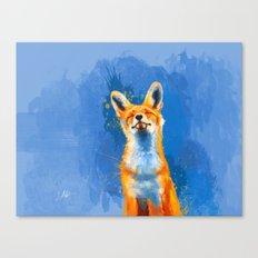 Happy Fox v2 Canvas Print