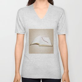 Open book Unisex V-Neck