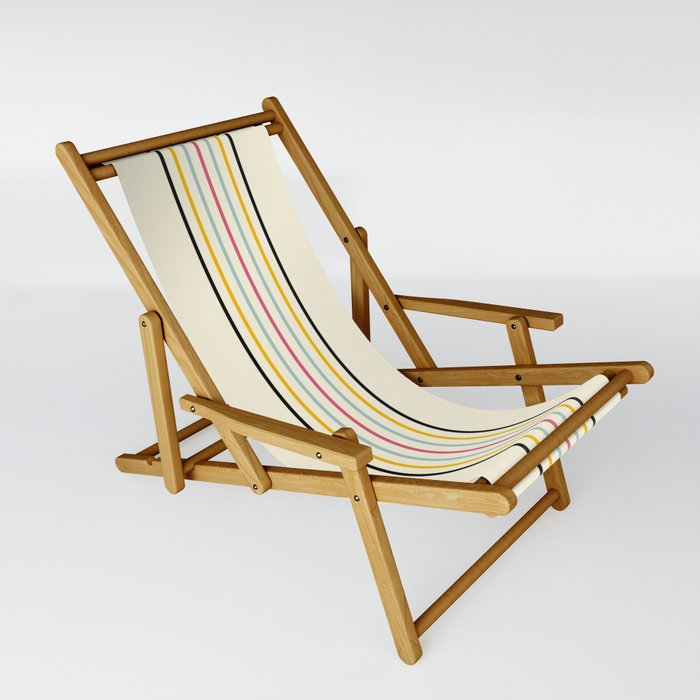 Morichika - Classic Fine Retro Stripes Sling Chair