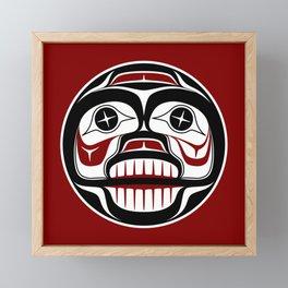 Northwest Pacific coast Haida Weeping skull Framed Mini Art Print