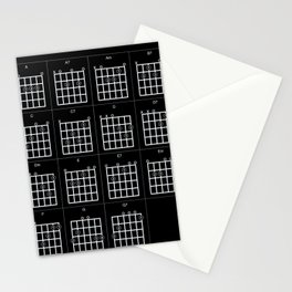 Guitar chords diagram Stationery Cards
