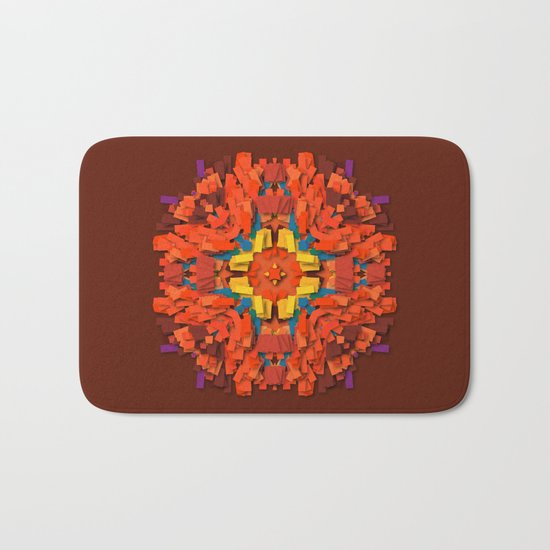 red round accumulation Bath Mat