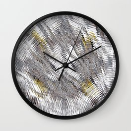 Silver Metallic Urban Industrial Wall Clock