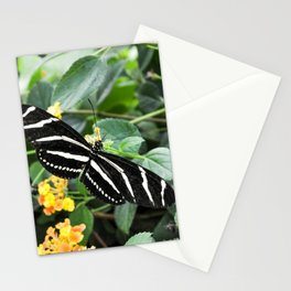 Butterfly in Yellow Flowers Stationery Cards