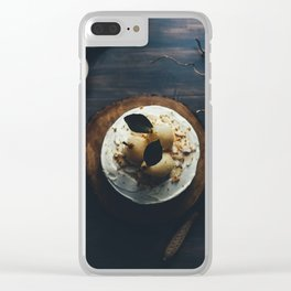 pear cake Clear iPhone Case