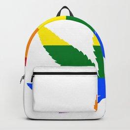Weed - LGBT Flag Backpack