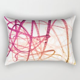 Crimson Sunset Goldenrod Tangled Abstract Rectangular Pillow