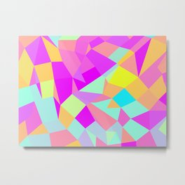 SQ Triangles Metal Print