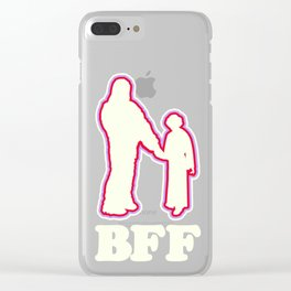 Leia & Chewie: BFF Clear iPhone Case