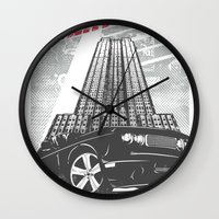 nightmare Wall Clocks featuring Nightmare by Tshirt-Factory