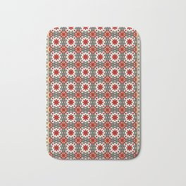 V12 Red Traditional Moroccan Rug Pattern. Bath Mat