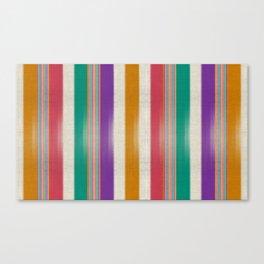 """""""Colorful Vertical Lines Burlap Texture"""" Canvas Print"""