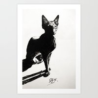 sphynx Art Prints featuring Sphynx by Louise des Jam