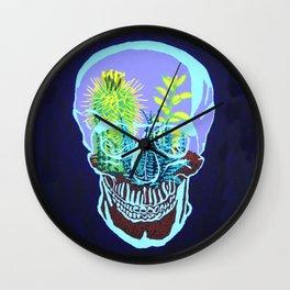 Skull Terrarium Wall Clock